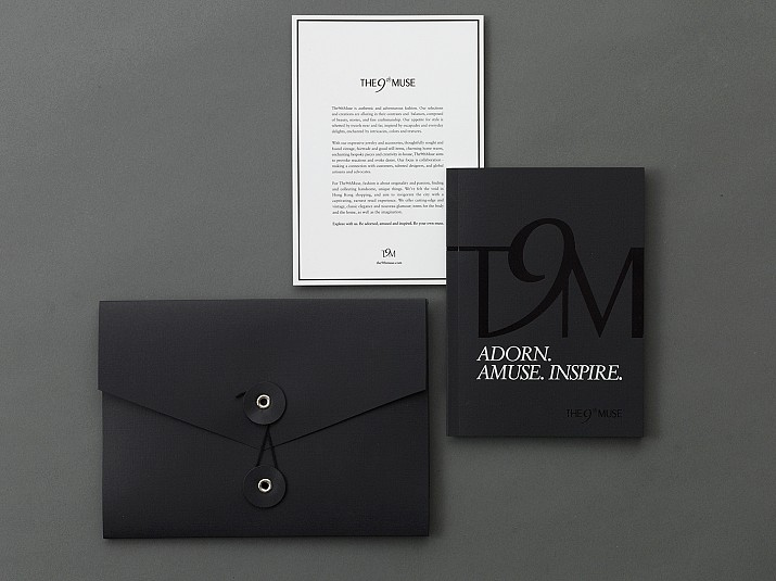 BRANDBOOK AND ENVELOPES, VARNISH AND SILKSCREENED