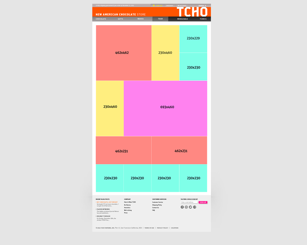 TCHO WEBSITE REDESIGN