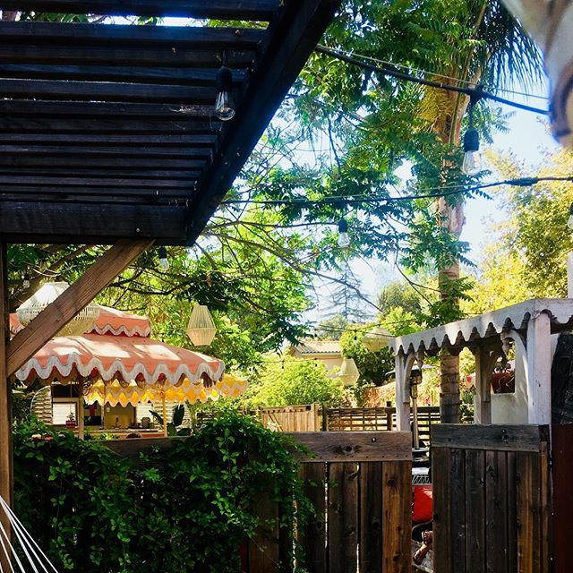 Saturday on the patio...#ojai #winebar #patio