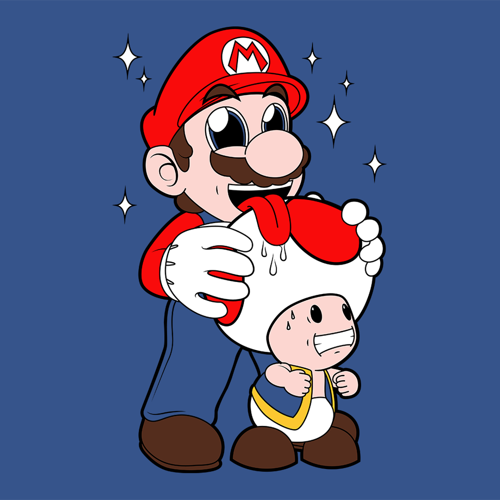 Mario Licking Toad (CLICK TO SHOP!)