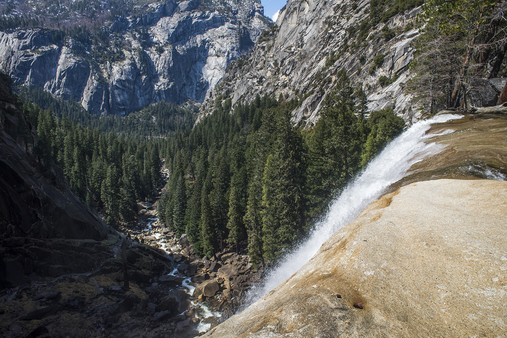 This is the view from the top of Vernal Fall.