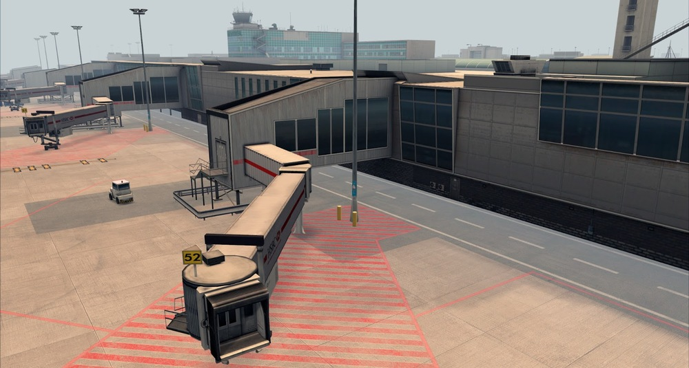 Very realistic jetbridge textures and ground work. Crisp!