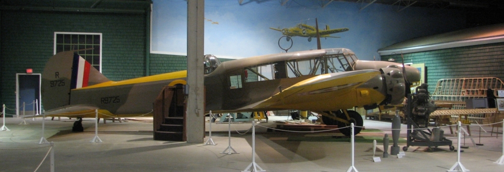 R9725, an Anson Mk.1 photographed by the author at the Western Development Museum in Moose Jaw in 2010. This was one of the first eight Ansons to come to Canada in September, 1940, for the British Commonwealth Air Training Plan.
