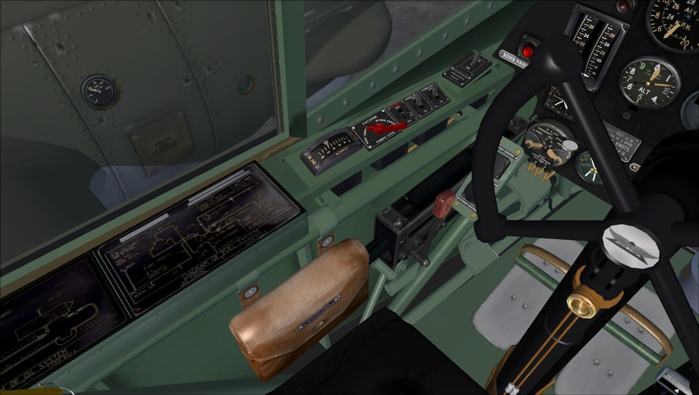 FSAddon – Left cockpit detail