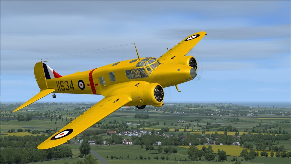 This is a Mk.2, produced in Canada as a trainer for the RCAF. It features US-sourced Jacobs engines, covered fuselage windows, a glass nose, and no turret.