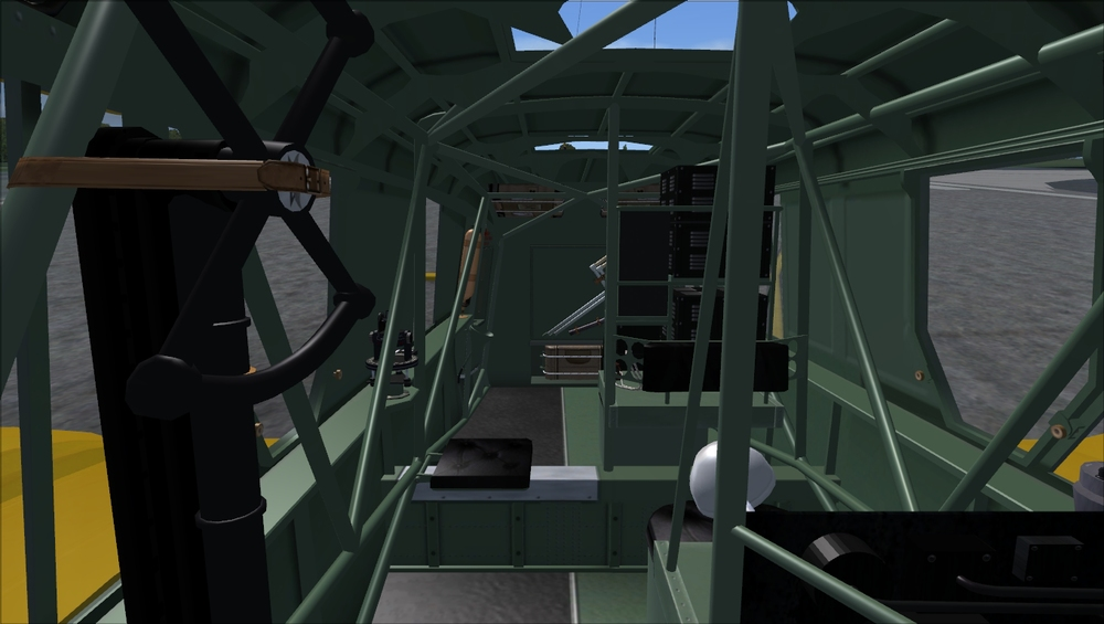 This is the inside of the Canadian-built Mk.2. Notice the covered windows.