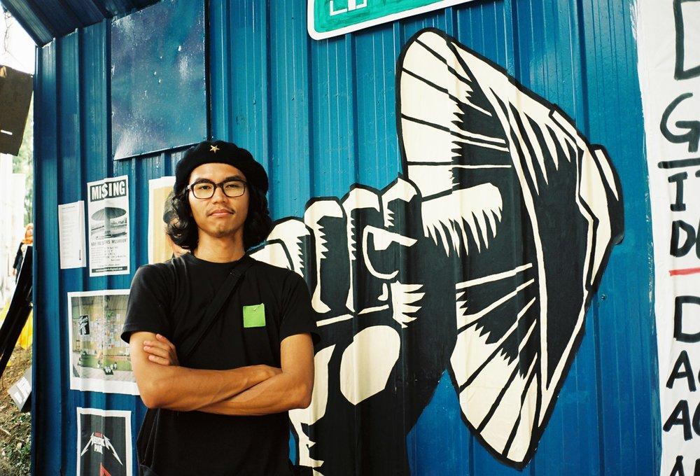 Fahimi Reza (Artist/Activist) at reclaim Merdeka park, KualaLumpur,2013