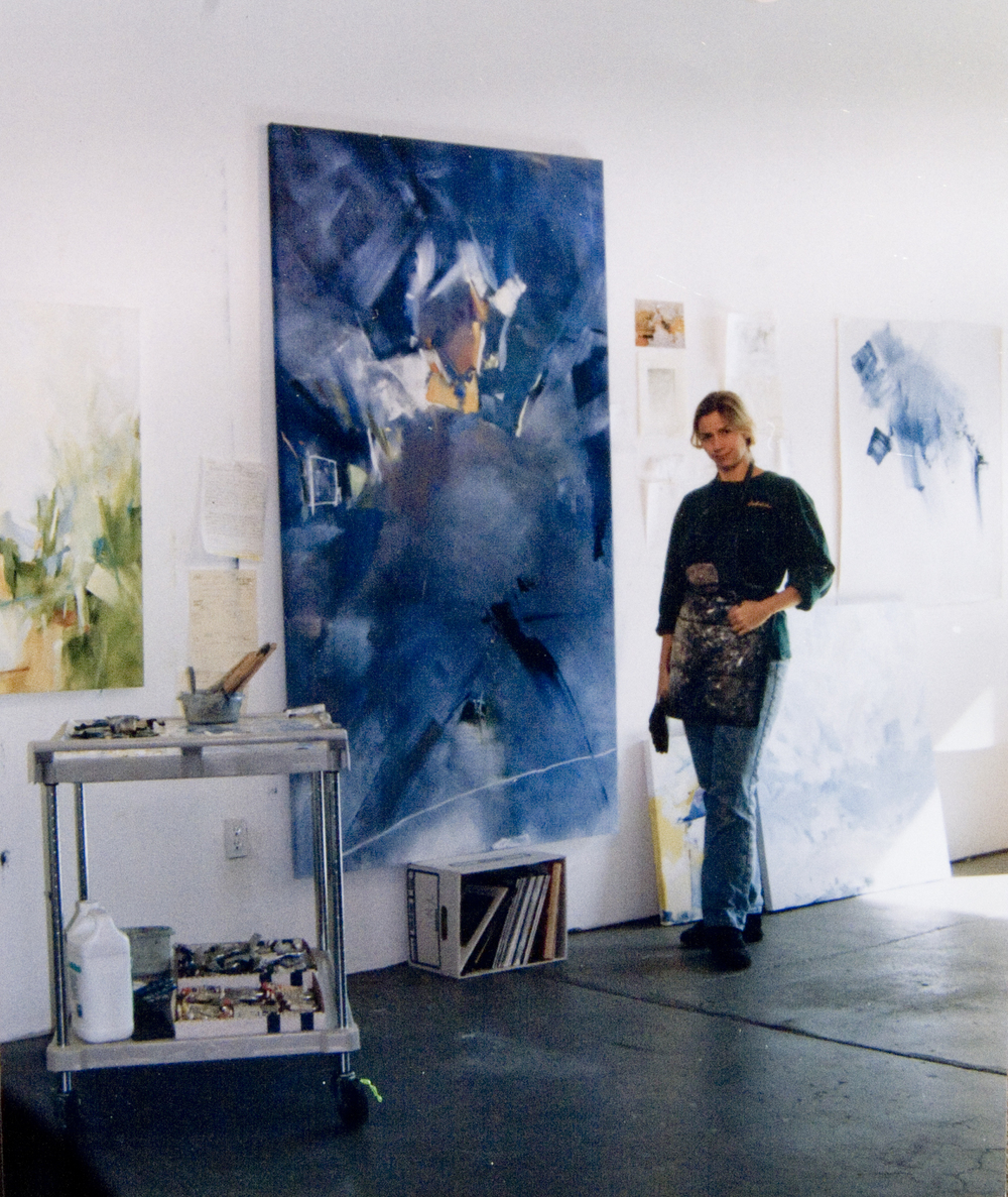 Peggy Gyulai in her studio