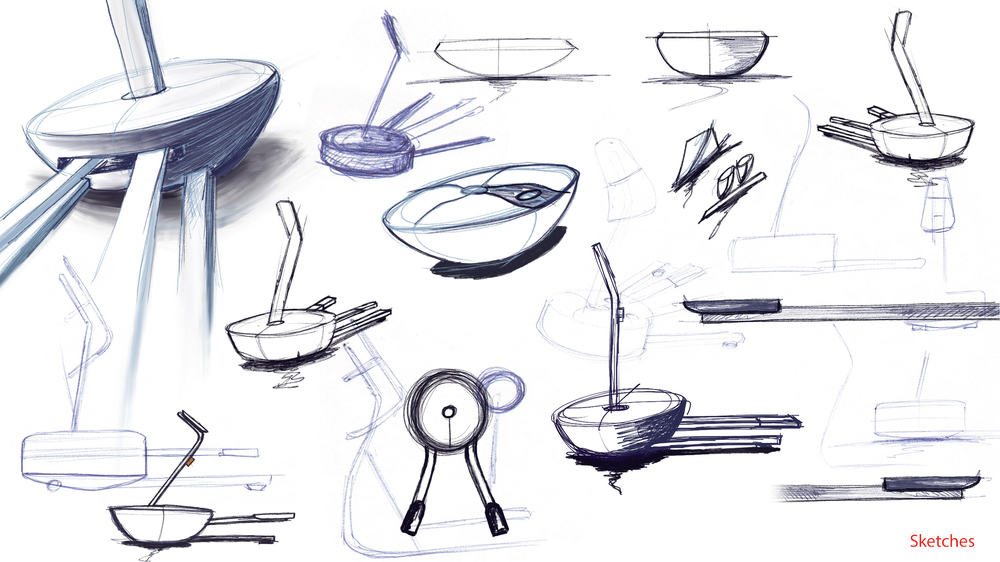Some of the first design sketches showing the new direction for Carving.