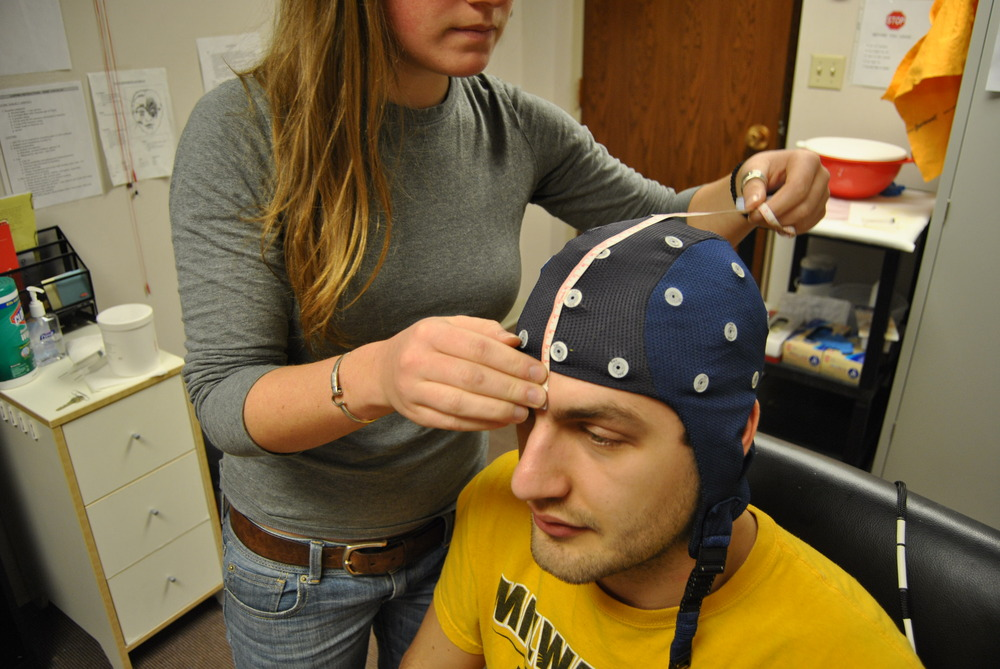 The project was helped by the University's Psychology department to gather EEG data from subjects.