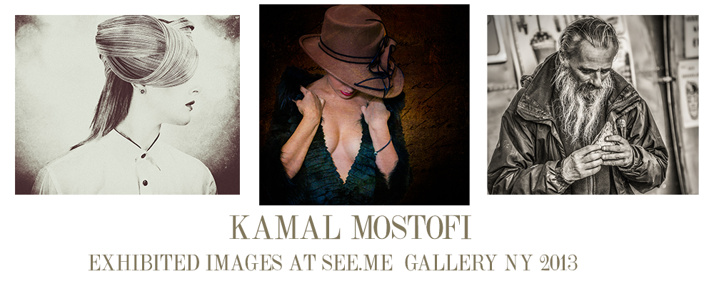 Exhibited images of my work in New York gallery
