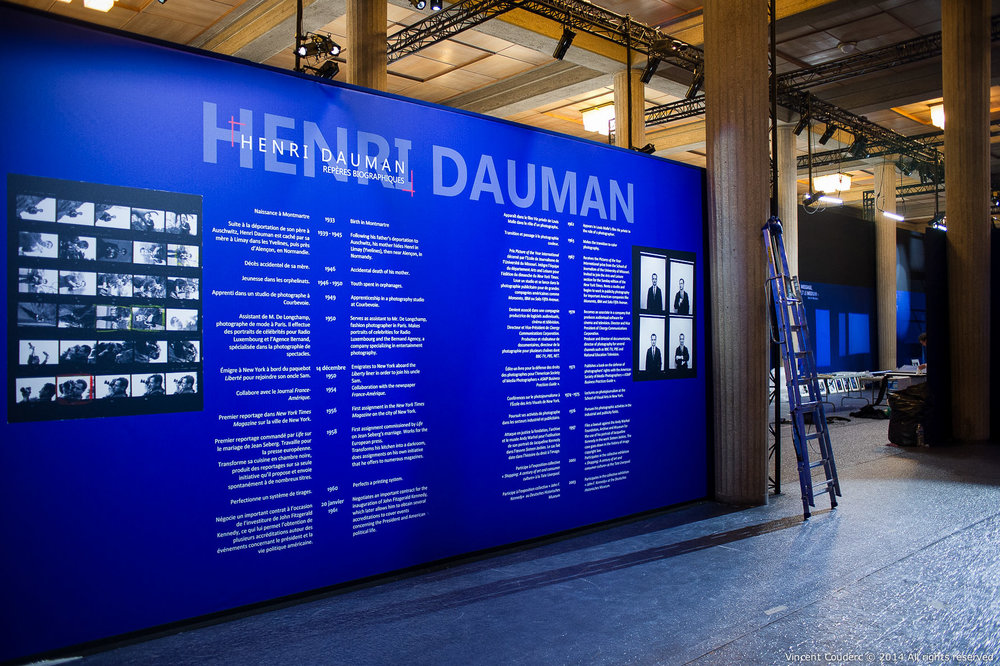 La Darkroom  Exposition sur le travail du photographe Henri Dauman Palais d'Iéna,Paris, 2014.   www.manhattan-darkroom.com