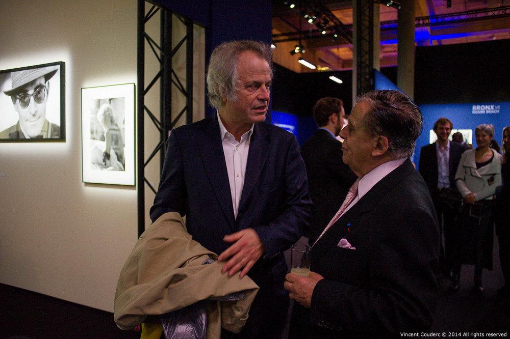 Franz-Olivier Giesbert, journaliste et éditorialiste  Exposition sur le travail du photographe Henri Dauman Palais d'Iéna,Paris, 2014.   www.manhattan-darkroom.com