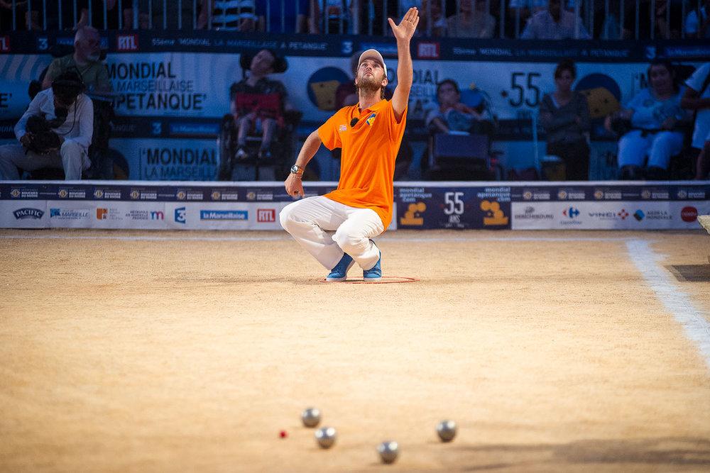 Sébastien Da Cunha  55ème Mondial la Marseillaise à Pétanque. Sur le vieux port de Marseille, 2016.   www.mondialapetanque.com