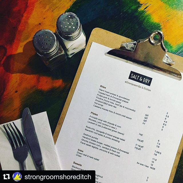 Our new menu went live today at Strongroom! Come check it out! 😉 #londoncaterer #londonpop #londonfood #londonbars #newmenu #strongroomshorditch #shoreditch #instafood #londonhospitality #timeoutfood #delicious