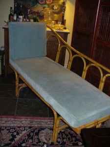 bamboo chaise lounge- $200 OBO : bamboo chaise lounge - Sectionals, Sofas & Couches