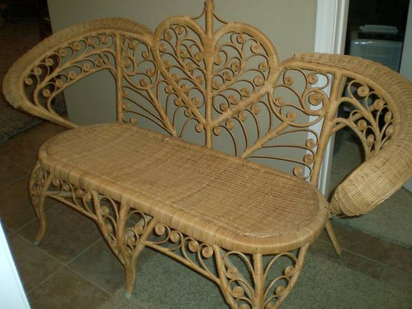 Cute Little Wicker Sofa (and 2 Chairs) $50.