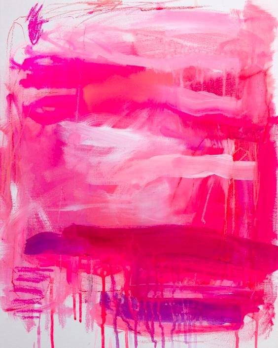 pinkenstein     16 x 20 mixed media on canvas