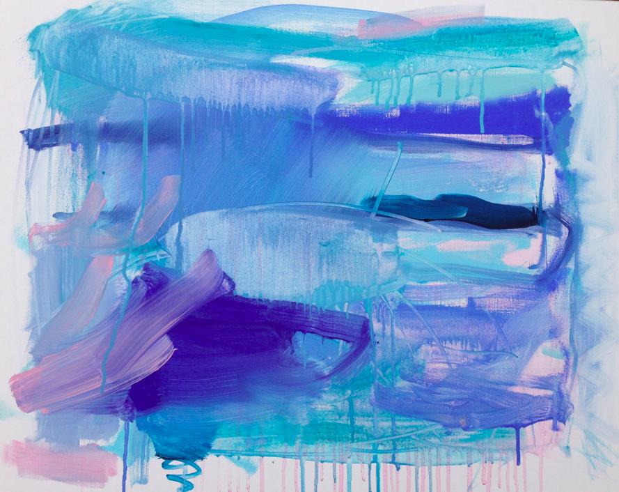 ice window     20 x 24 acrylic and gouache on canvas.