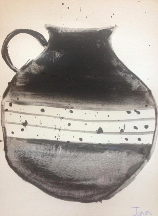black jug 11 x 15 paper
