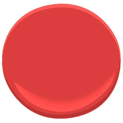 benjamin moore bull's eye red