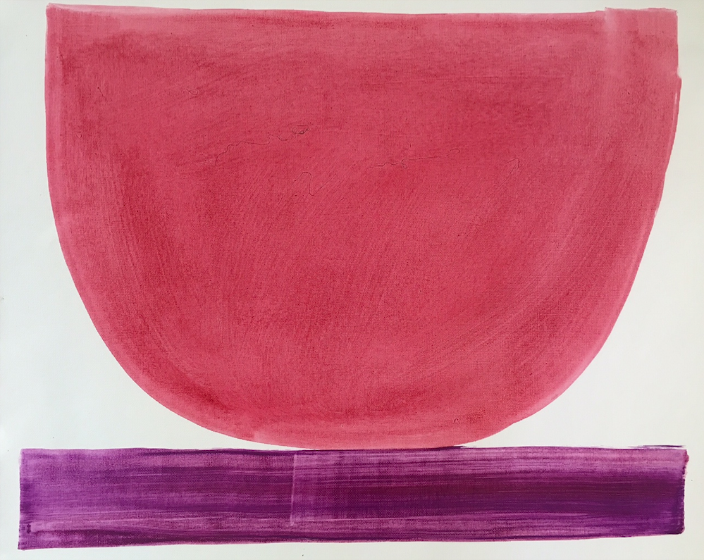 Raspberry Bowl     16 x 20 canvas paper