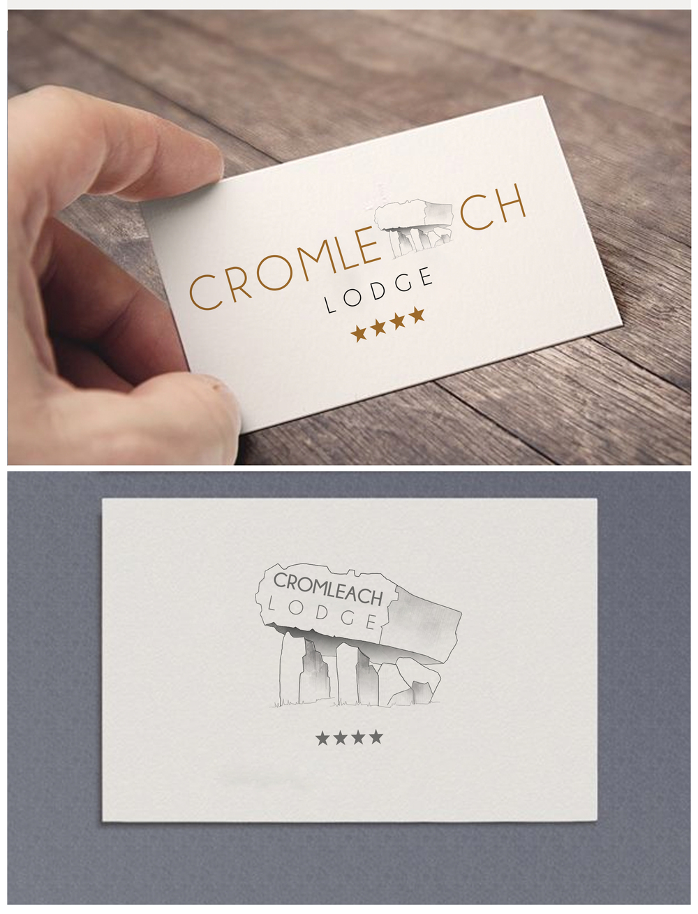 Cromleach lodge logo design