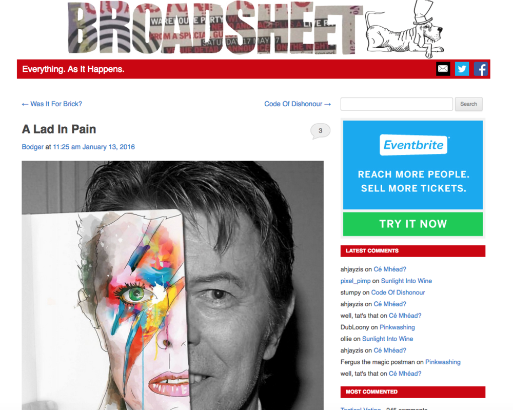 David bowie on Broadsheet