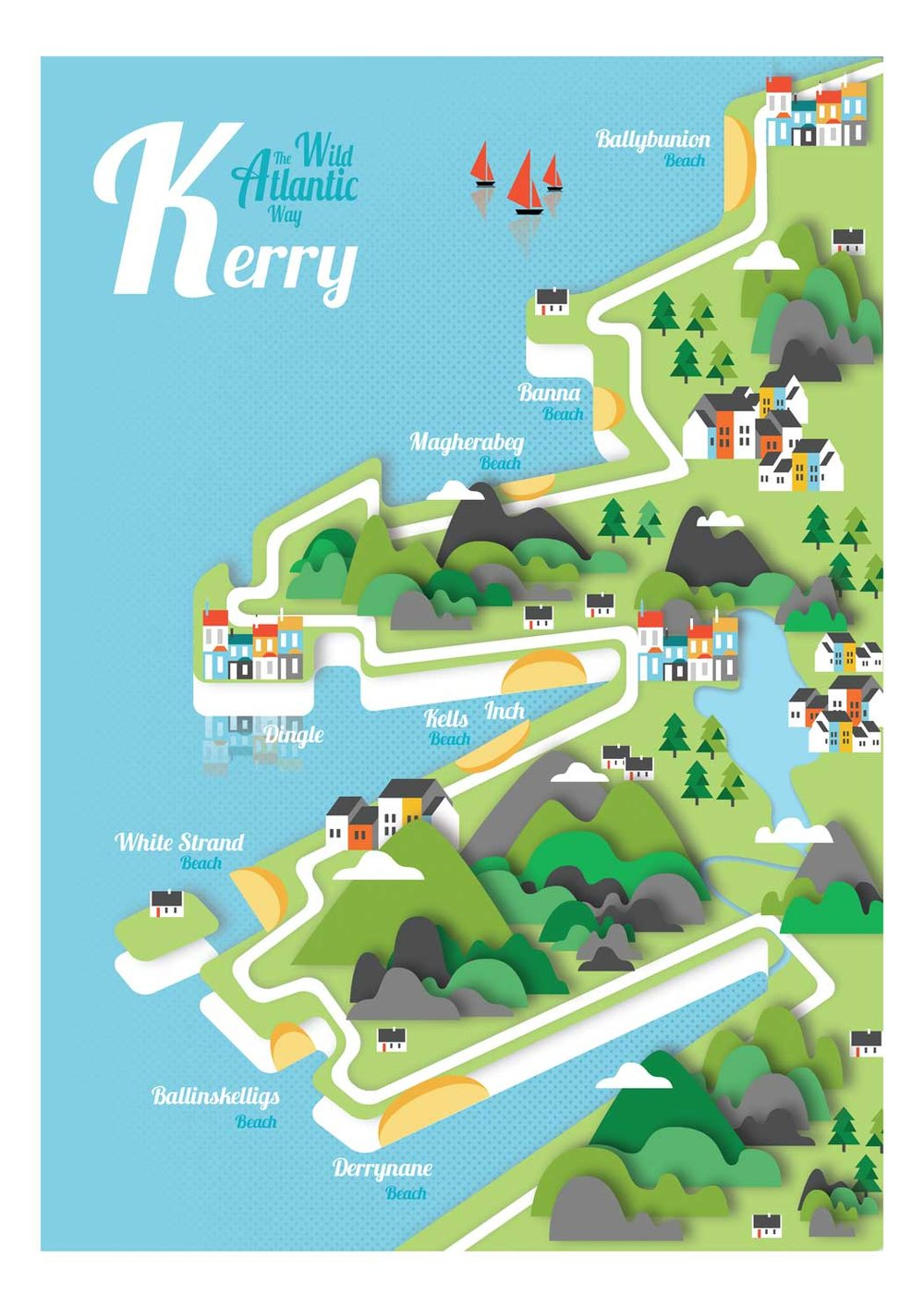 illustrated map of kerry