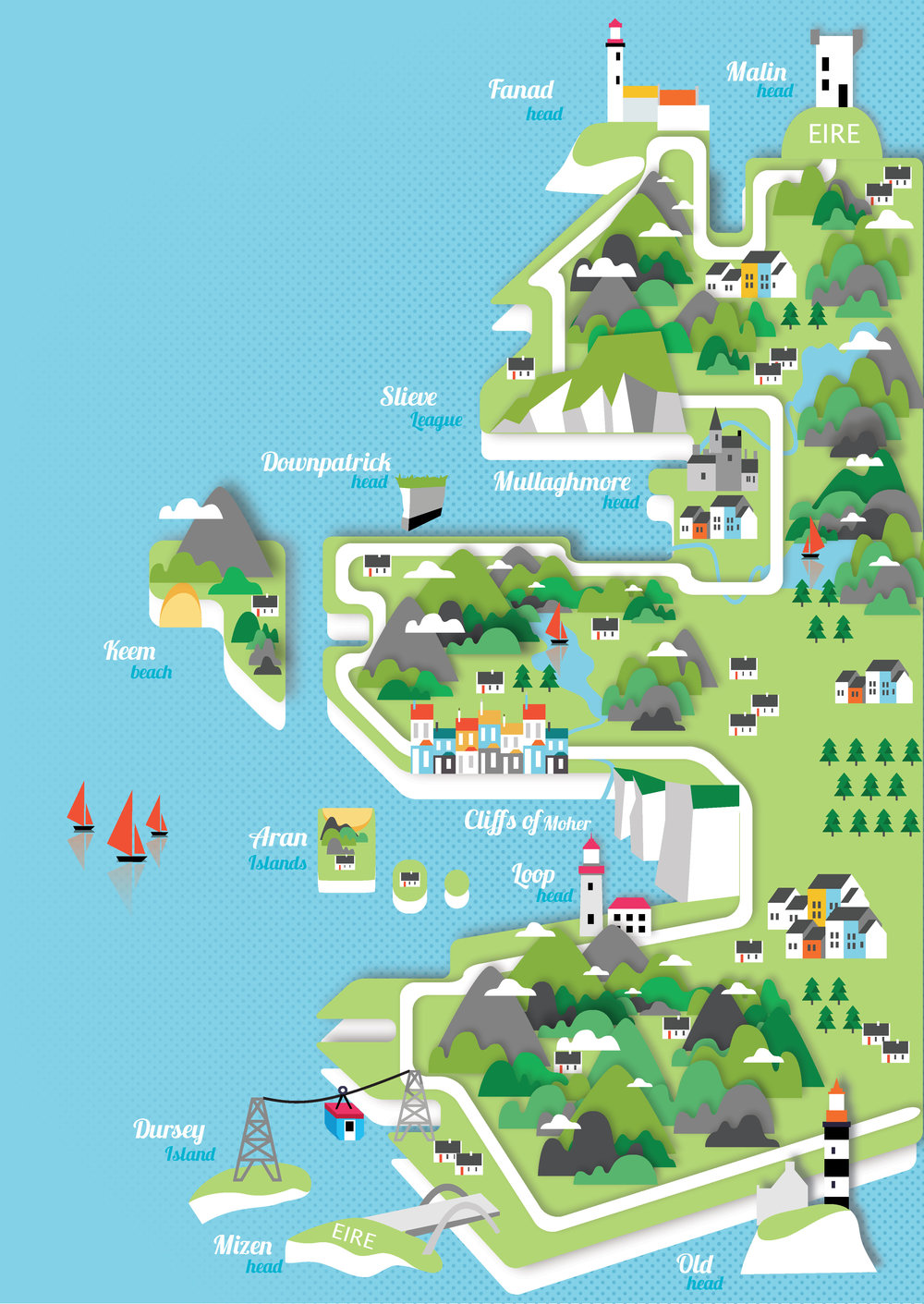 wild atlantic way map