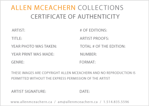 certificate of authenticity photography template - original artwork certificate of authenticity montreal