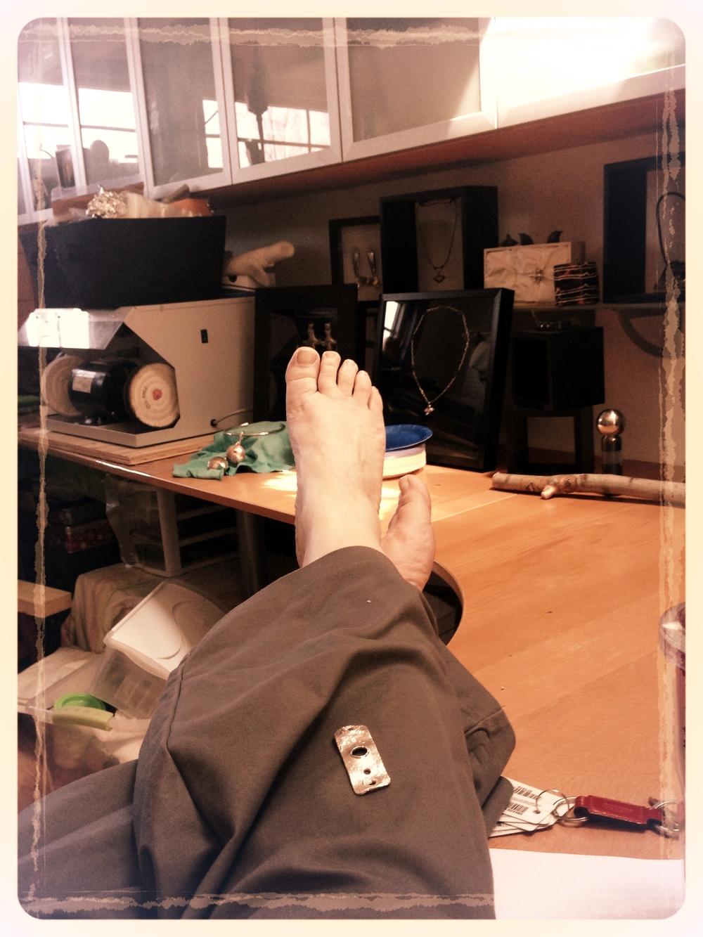 I LOVE my job! ... but I think I need a pedicure...