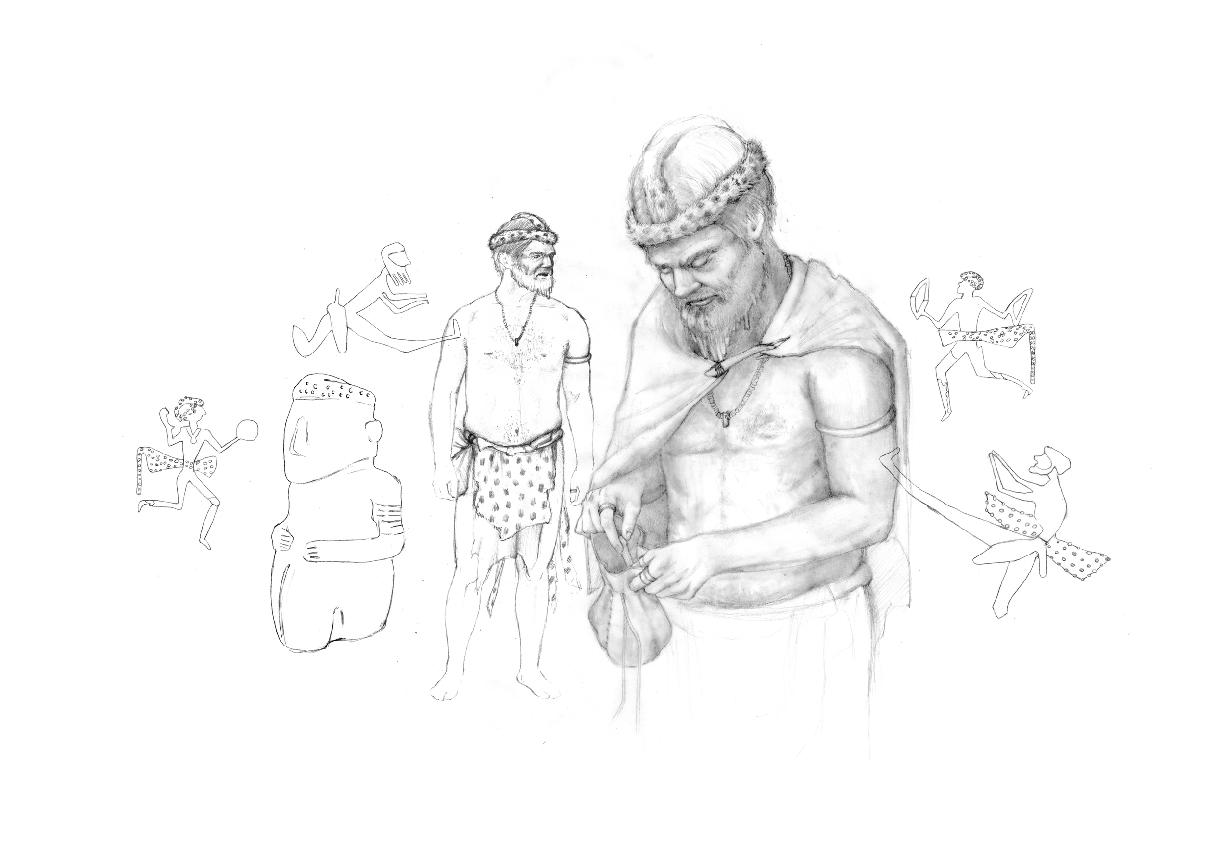 Male Adornment Preliminary Drawing
