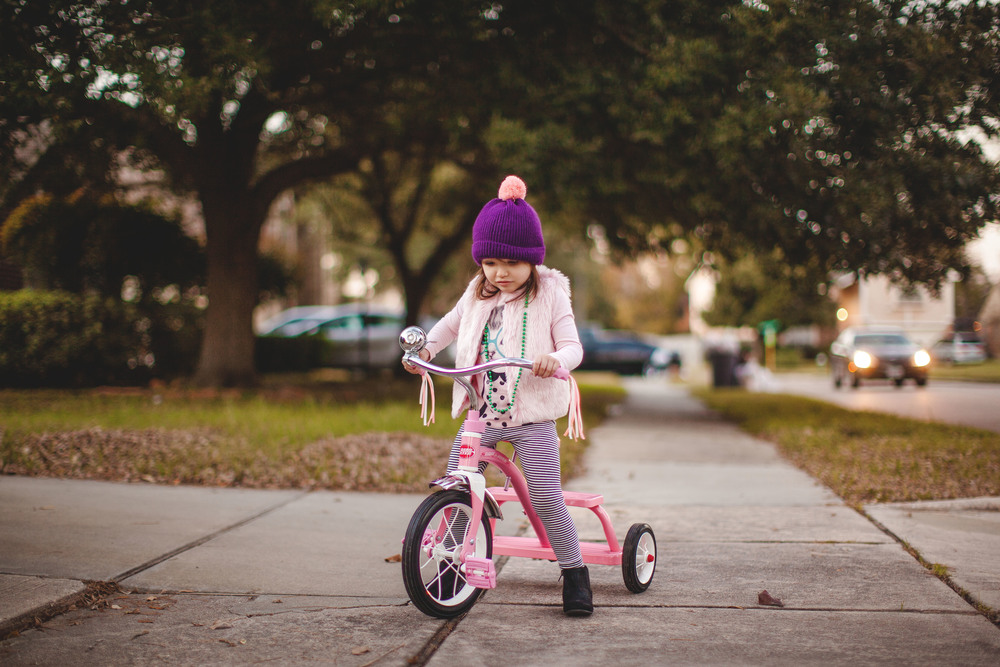 5/365 |  learning to ride her new tricycle. | 5:46pm