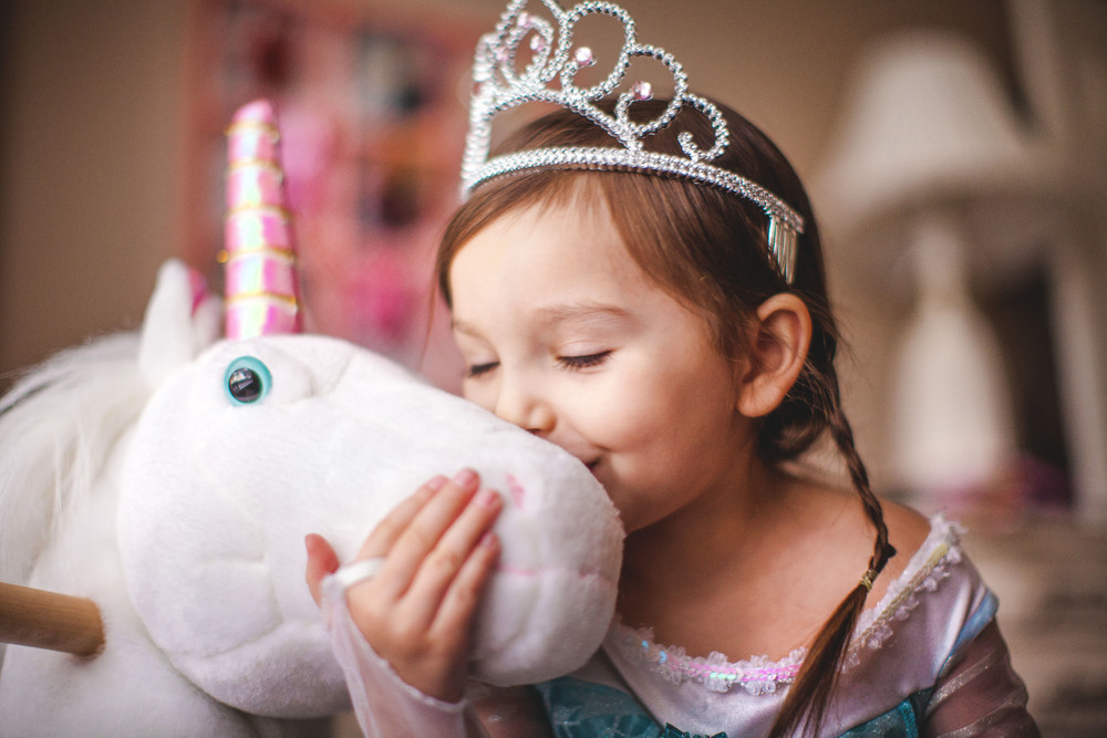 9/365 |  Queen Elsa and her unicorn, Pinky. | 4:21pm