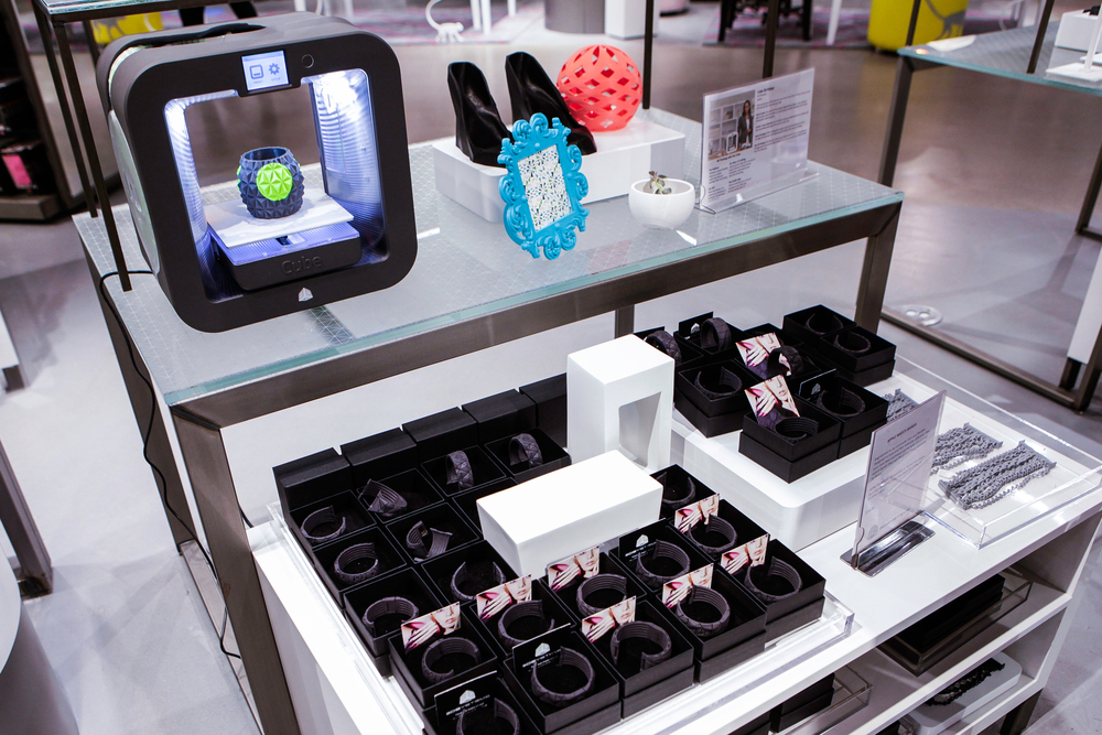 Macy's 3D printing station where customization plays a key role.