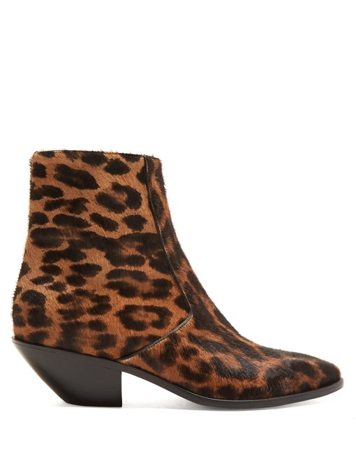 Saint Laurent these are amazing but a hefty price tag   Below leopard boots with a more realistic price tag from Sam Edelman