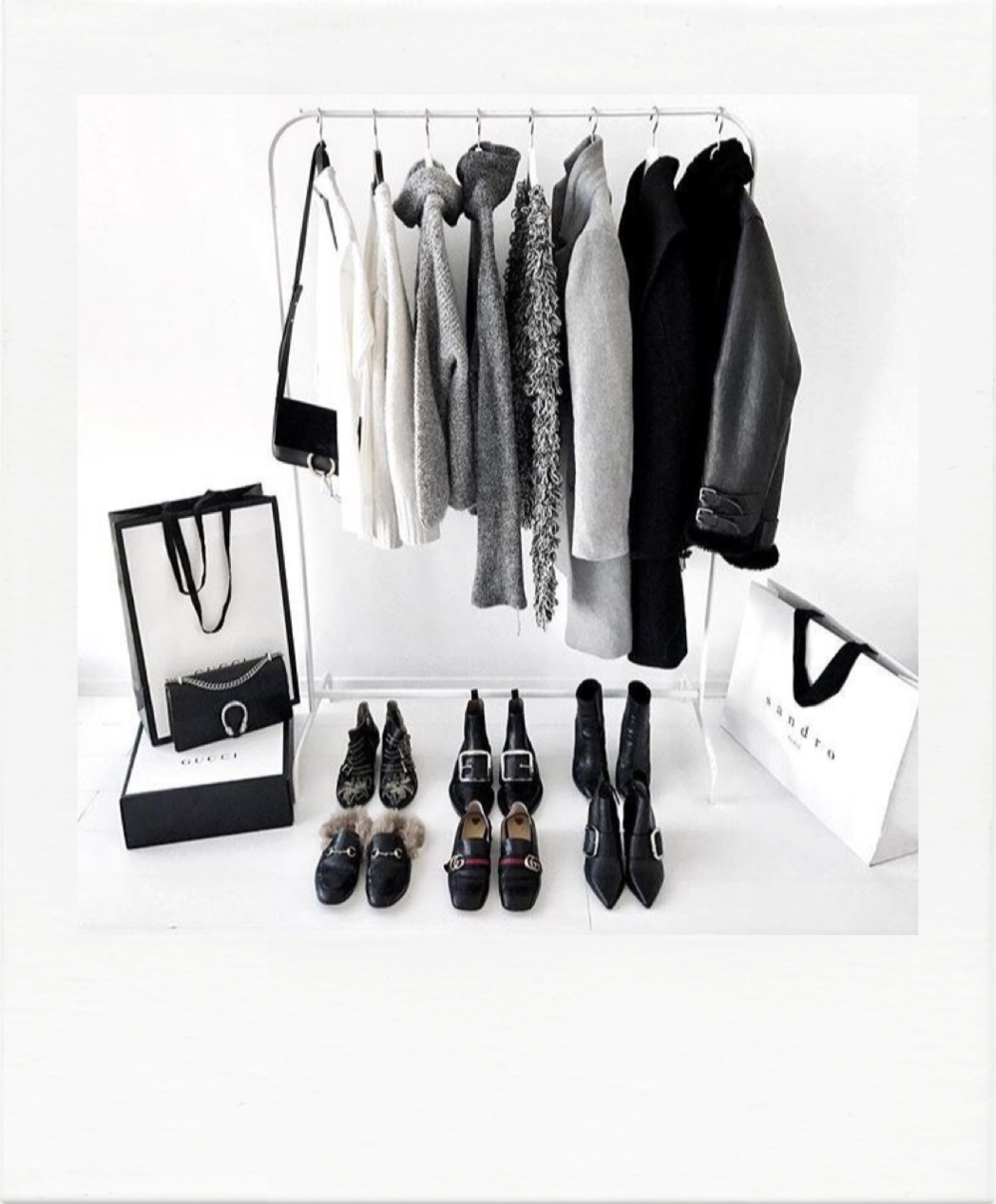 Timeless shopping selection, a rail of clothes will be presented of your new wardrobe