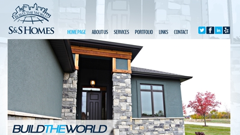 S&S Homes Website