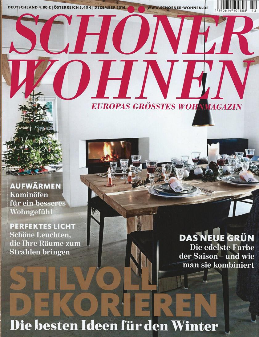SCHÖNER WOHNEN  Dezember 2016