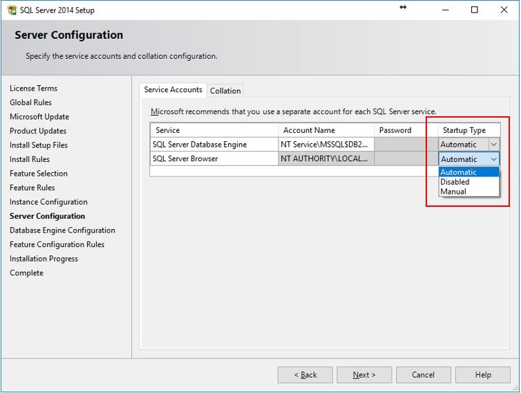 SQL Server Browser tjänsten krävs för att ansluta till databasen över ett nätverk.