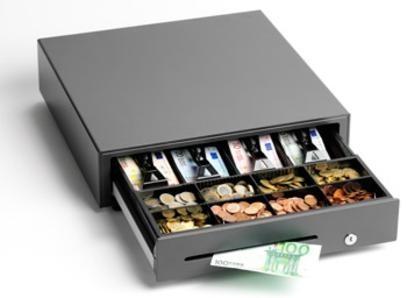 Kassalåda från Star med sedelklämmor som uppfyller Skatteverkets krav.