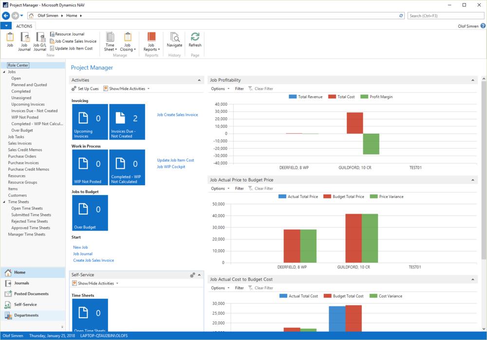 Dynamics NAV - Med en integration till Microsoft Dynamics NAV synkroniseras alla artiklar, priser och kunder.I kassan kan du hämta upp en försäljningsorder, sälja mer eller mindre och låta kunden betala kontant eller kort.