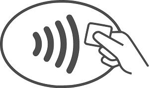 Contactless kortbetalning med NFC i JobOffice Kassa