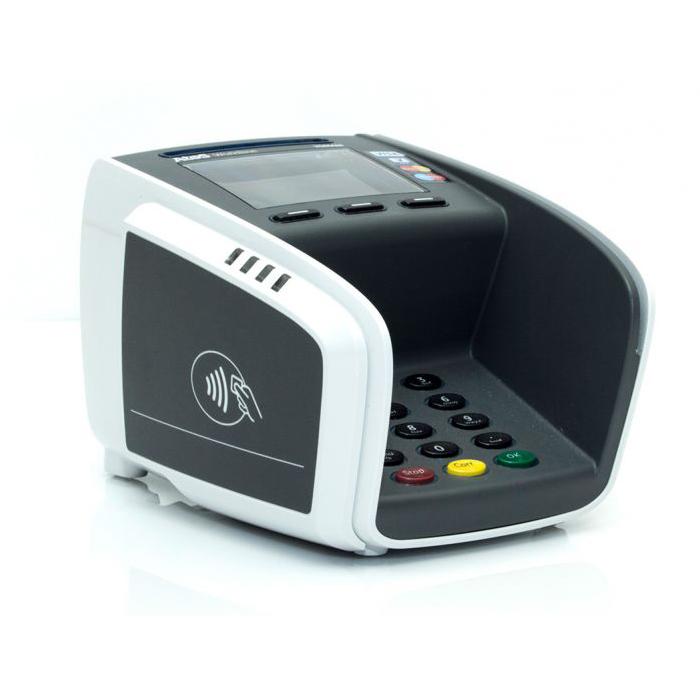 Välj en kassakopplad betalkortsterminal med JobOffice Kassa. Bilden visar en Yomani kortterminal från Verifone eller Babs Paylink.