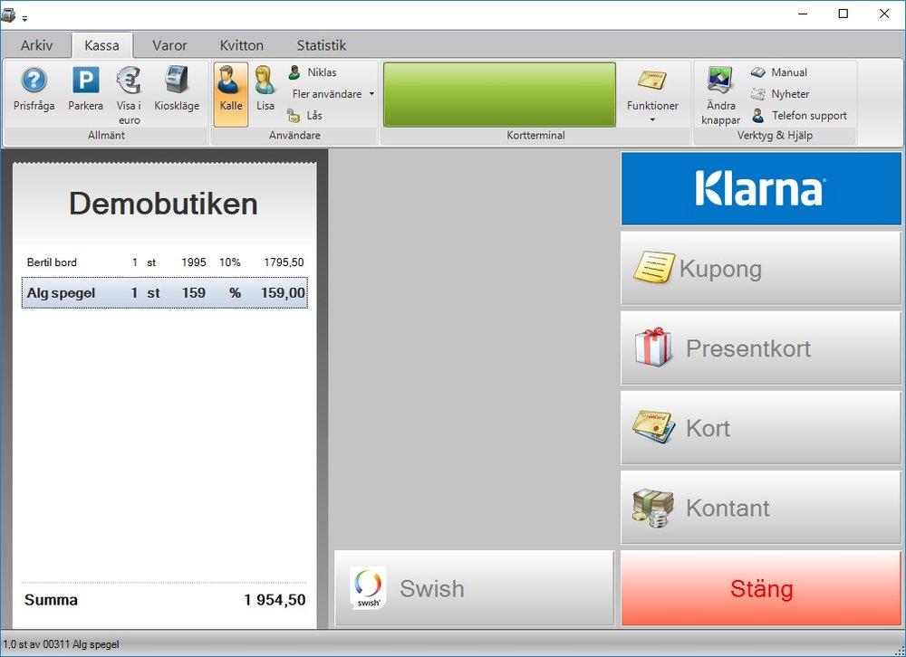 Erbjud kunden fler betalsätt med JobOffice Kassa