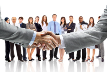 handshake isolated on business background by SalFolko on Flickr