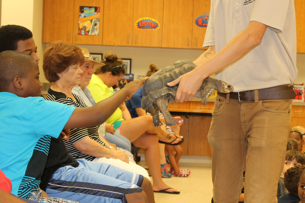 There were animals that visited from the Audubon Institute, Christian Stephenson from the Extension Service talked about the science behind superheroes, and visits from Community and Military Heroes.