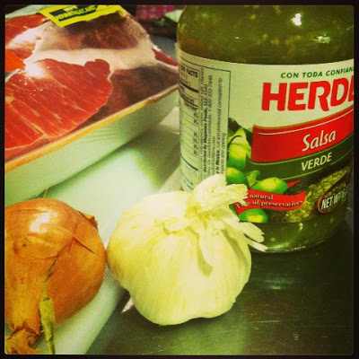 Easy ingredients for my take on chili verde