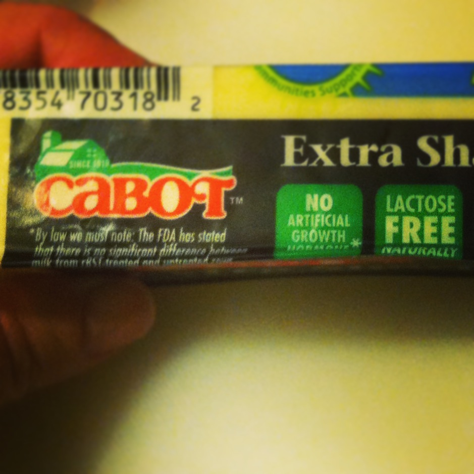 See? Cabot's cheese is lactose free naturally!